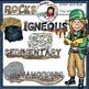 Science clip art: Geology- Rocks clip art set -Color and B