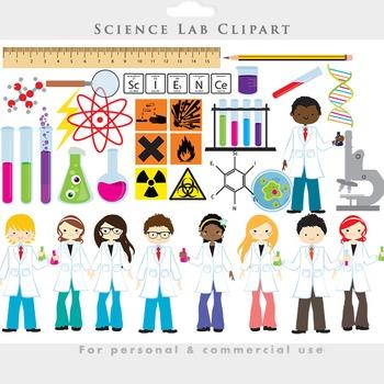 Science clipart - chemistry lab clip art test tubes scient