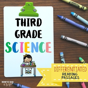 Science Reading Passages Differentiated Third Grade Bundle