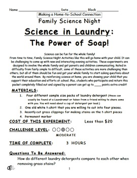 Science in Laundry - The Power of Soap Family Home Science