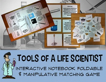 Science lab tools interactive notebook foldable manipulati