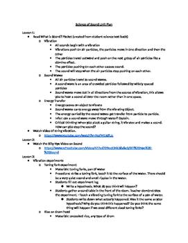 Science of Sound unit plan