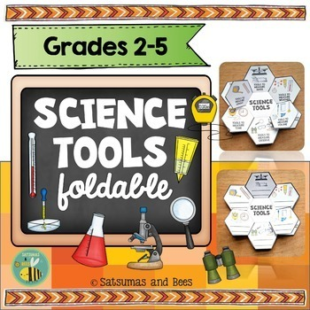 Science tools-Interactive Science Notebook foldable