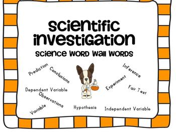 Scientific Investigations Word Wall with Boston Terriers