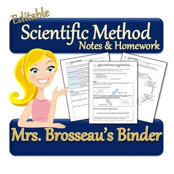 Scientific Method: A Scientific Inquiry Unit - Notes & Lab