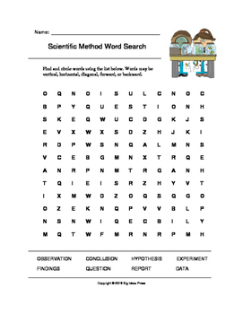 Scientific Method Word Search (Grades 3-5)