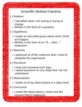 Scientific Method Checklist