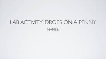 Scientific Method: Drops on a Penny Lab PPT
