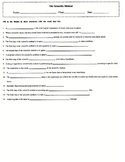 Scientific Method Fill-in Worksheet with Key