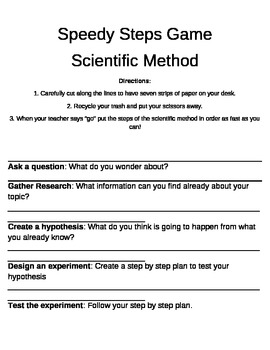 Scientific Method Game