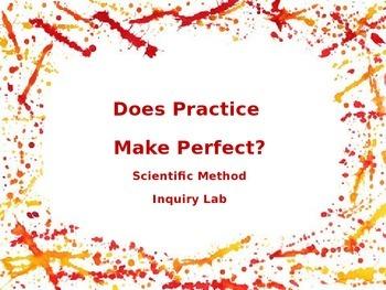 Scientific Method Inquiry Lab - Does Practice Make Perfect