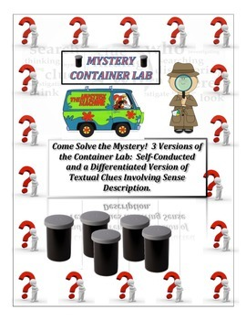 Scientific Method:  MYSTERY CONTAINER INQUIRY LAB!  3 Diff
