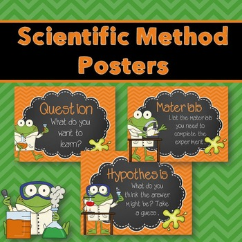 Scientific Method Posters (Froggy Edition)