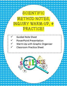 Scientific Method PowerPoint, Note Sheet, Inquiry Activity