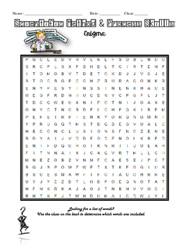 Scientific Method & Process Skills: Word Search Enigma