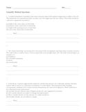 Scientific Method Questions