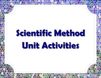 Scientific Method/Science as Inquiry Unit Bundle