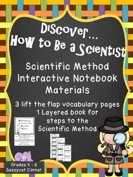 Scientific Method - Steps and Vocabulary Interactive Noteb