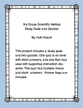 Scientific Method Study Guide and Quizzes