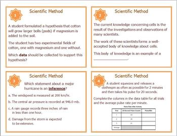 Scientific Method Task Cards for Middle and High School