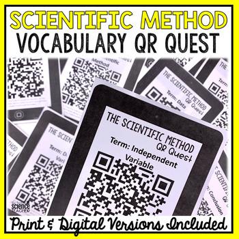 Scientific Method Vocabulary QR Code Quest