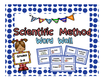 Scientific Method Word Wall or Flash Cards