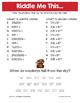Spring Scientific Notation Math Riddles