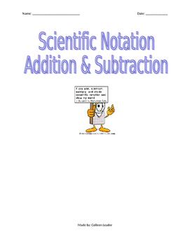 Scientific Notation Addition & Subtraction