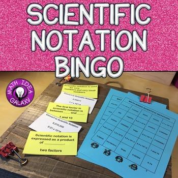 Scientific Notation Game (Bingo)