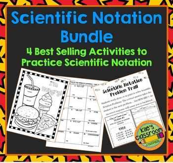 Scientific Notation Bundle - 3 Student Math Activites for