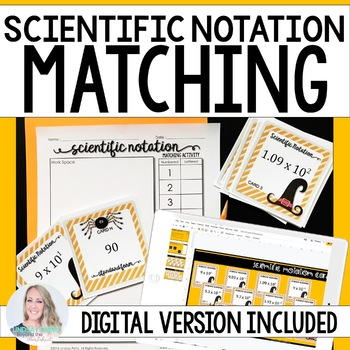 Scientific Notation Editable Matching Activity