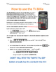 Scientific Notation - How to use the TI30Xa calculator