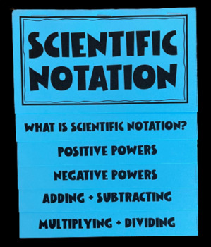Scientific Notation (Mega Foldable)