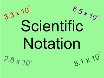Scientific Notation Practice - Smartboard