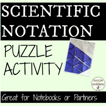 Scientific Notation Puzzle Activity