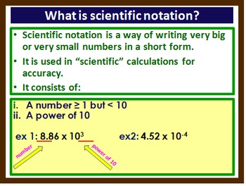 Scientific Notation, Scalars & Vectors, Graphical represen