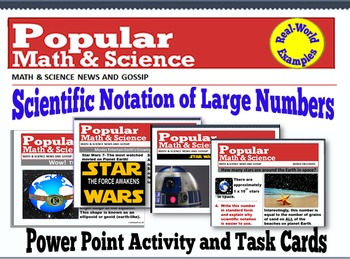 A Scientific Notation Power Point Activity and Task Cards