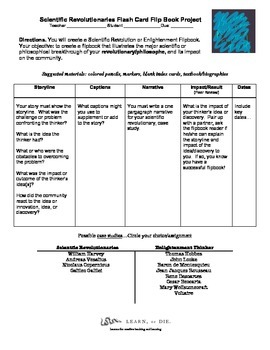 Scientific Revolution - Enlightenment Thinker Flip Book Pr
