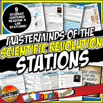 Scientific Revolution Stations Activity with Graphic Organ
