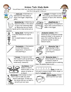 Scientific Tools Study Guide