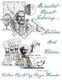 Scientist Clipart: Edison and Galileo