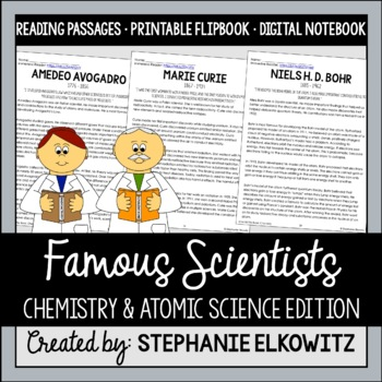Scientist Flip Book - Chemistry and Atomic Science Edition