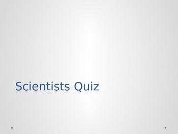Scientist Quiz - 5 Question Multiple Choice