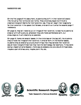 Scientist Report- Instagram... What if Scientists had Soci