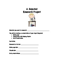Scientist Research Project