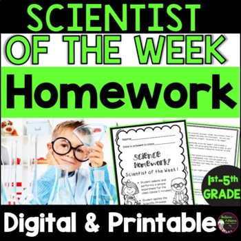 Scientist of the Week-simple and fun homework assignment