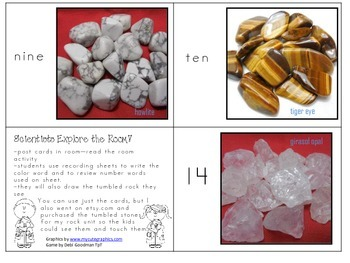 Scientists Explore/Read the Room! Rock Activity with color