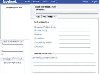 Scientist's Facebook Project: Nature of Science Icebreaker