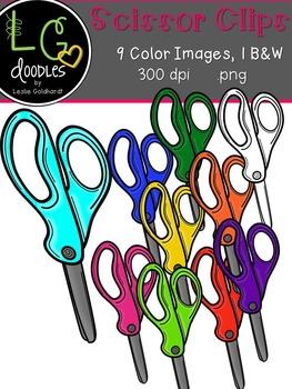 Scissor Clips ~ by LG Doodles