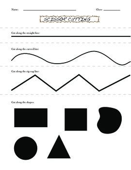 Scissor Cutting Practice Worksheet
